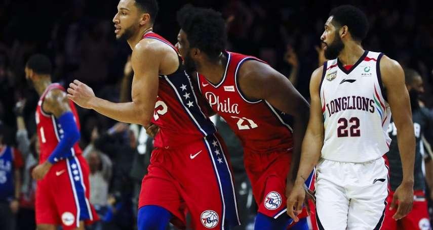 NBA》西蒙斯飆進自大學以來第1顆三分球 58分差大勝陳盈駿在內的廣州龍獅