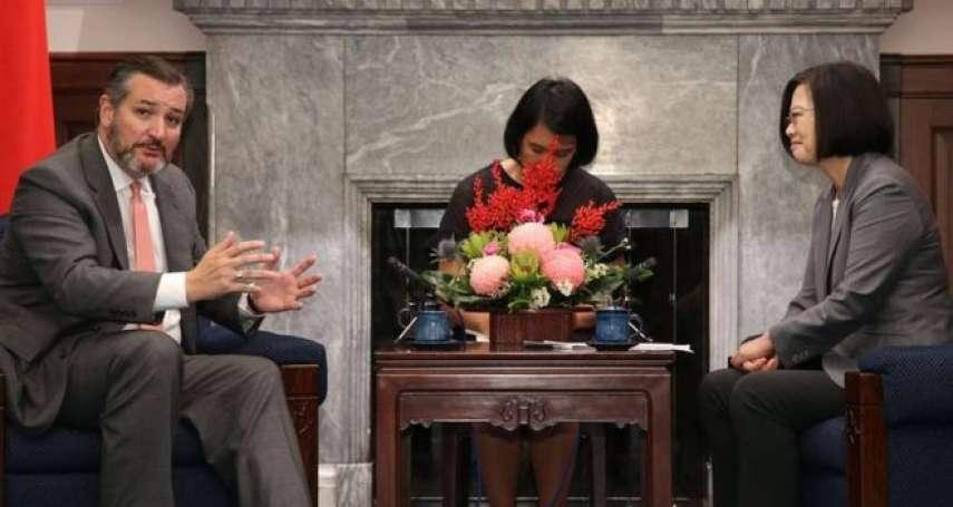美國重量級參議員克魯茲訪台,美國是否會強化聯台制中?