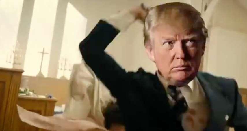 不寒而慄!當美國總統把媒體當成「人民公敵」,川粉播放「川普射殺媒體」的迷因影片