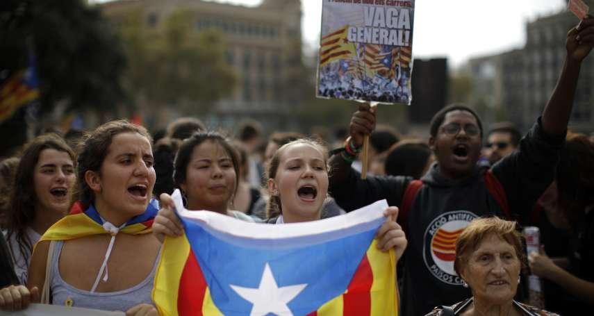 發動獨立公投,坐牢13年!加泰隆尼亞9名獨派領袖遭重判入獄,群眾圍堵機場示威抗議