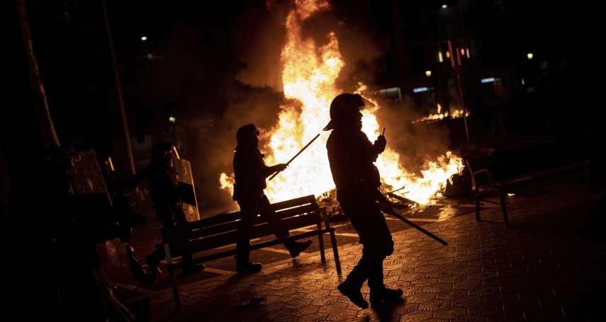民主海嘯!加泰隆尼亞獨派領袖遭重判 連續2晚爆發嚴重警民衝突、上百人受傷
