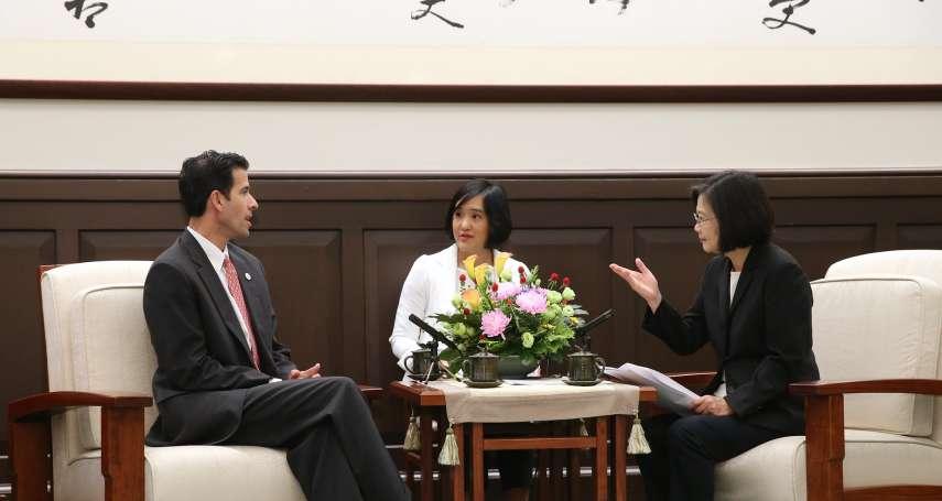 接見美國共和黨國際事務協會 蔡英文:「一國兩制」永遠不會是台灣人民的選項