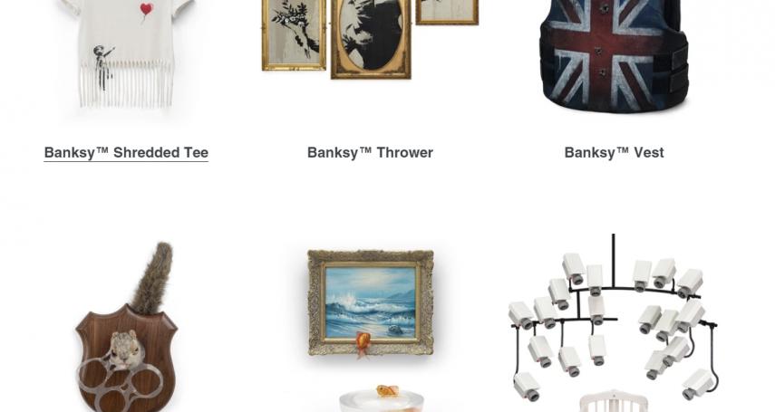 每人限購一樣、還得回答「為何藝術重要」給評審,通過才賣你…英塗鴉大師的超狂快閃店