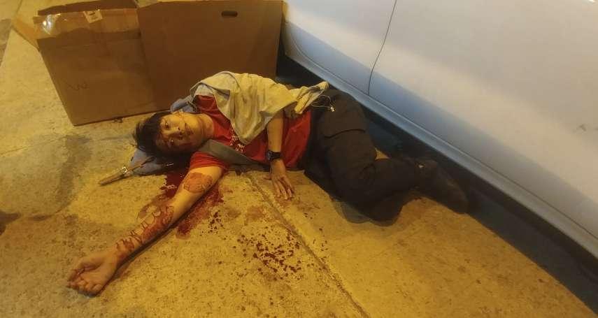 2個月內第2次遇襲》香港民陣召集人岑子杰遭鐵鎚攻擊 頭破血流已送醫治療