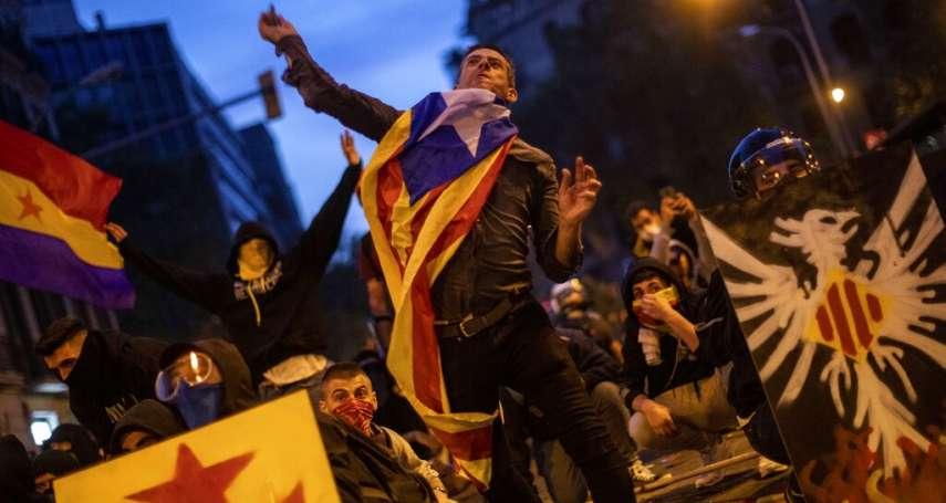 加泰隆尼亞獨立運動》「還政治犯自由!」逾50萬群眾上街嘶吼,警民爆發街頭游擊戰