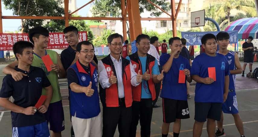 中油林園睦鄰盃籃球賽 男女老少組隊來鬥牛