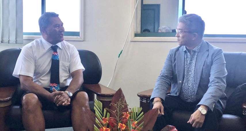 提升友邦資通能力》徐斯儉訪吐瓦魯談「台灣數位機會中心」 吐瓦魯外長計畫訪台