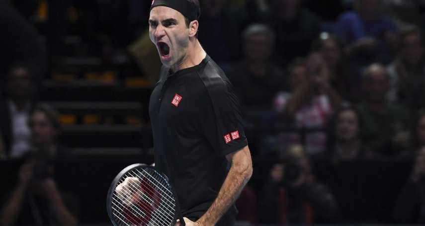 網球》 費德勒打出近乎完美一役 ATP年終賽退喬柯維奇晉級4強