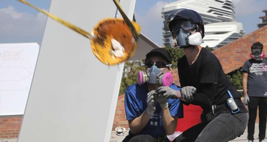 水炮車大戰投石器》香港理工大學淪為戰場,全港各級學校明天繼續停課