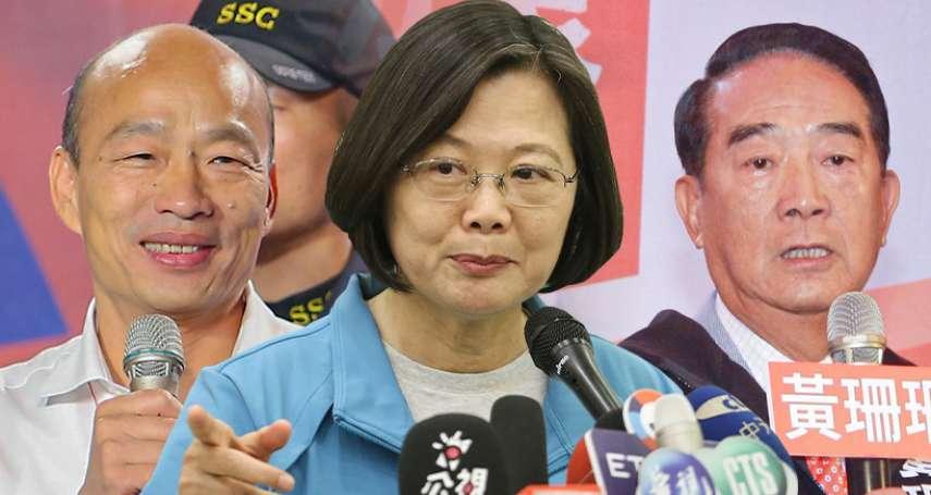 台獨聯盟民調》蔡英文領先韓國瑜15個百分點 4成民眾支持台灣國