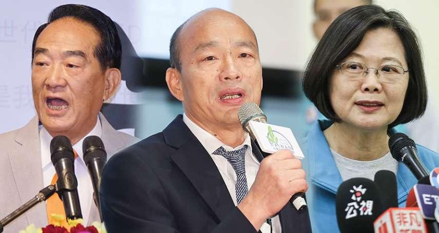 綠黨民調》韓國瑜支持度又跌了?落後蔡英文19.5個百分點,4成6選民怕他當選