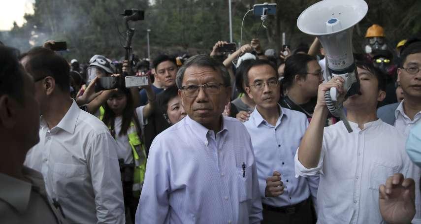 曾遭警方催淚彈攻擊》香港中文大學校長段崇智住院6天,尚未出院