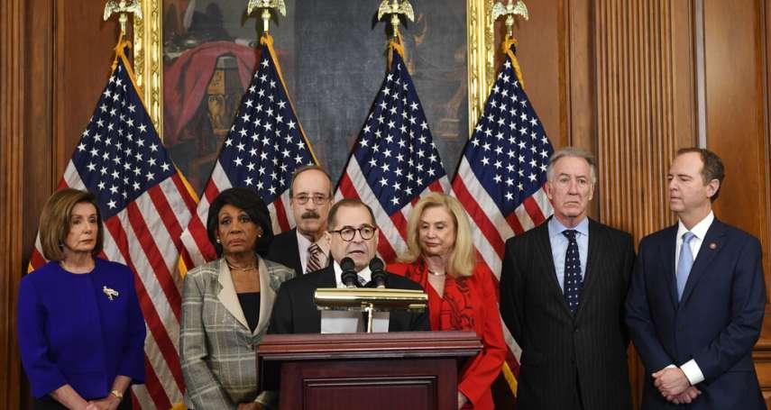 兩項罪名彈劾總統!美國聯邦眾議院司法委員會宣布:川普濫用職權、妨害國會