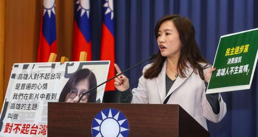 不滿「高雄人對不起台灣」說法 王淺秋批:沒投民進黨就該被羞辱?