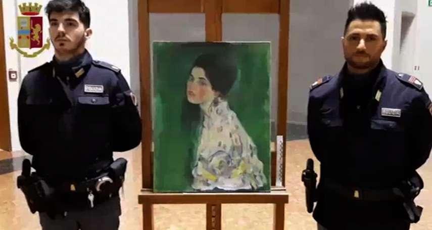 驚天發現!奧地利大師克林姆20億名畫失竊近23年  園丁疑似在美術館外牆找到原作