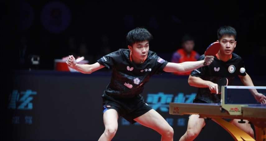 桌球年終賽》林昀儒廖振珽不敵中國組合 摘銀仍寫男雙隊史最佳