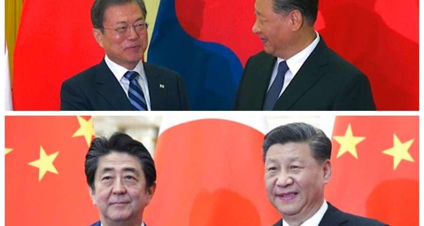 日韓領導人訪北京:文習會、安習會先後登場,文在寅與安倍晉三今王不見王