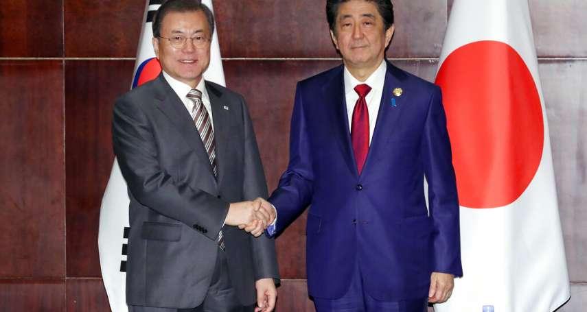 日韓領導人峰會》承諾攜手修復關係 安倍要文在寅提「徵用工爭議」解方