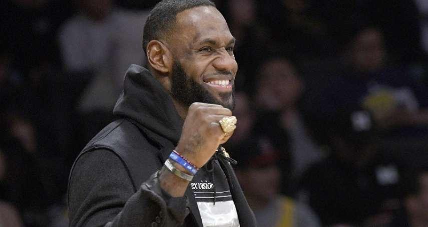 NBA》擊敗布雷迪、博爾特等傳奇! 詹姆斯榮獲美聯社十年來最佳男運動員