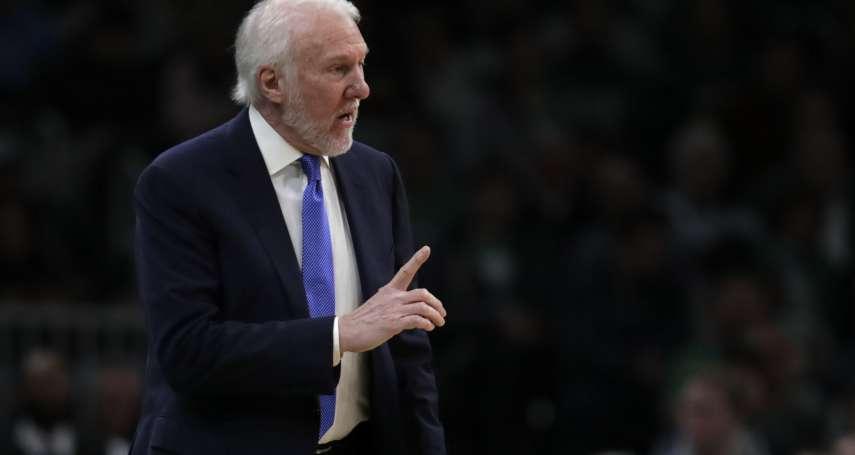 NBA》「我認為有點愚蠢」波波維奇批評負荷管理,揭露自己過去使用輪休的原因