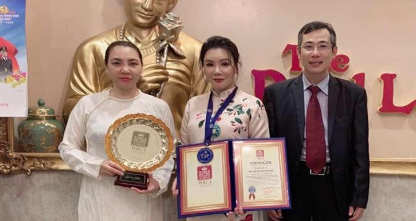 歌手胡瓊香與LOVING VEGAN 團隊喜提世界紀錄證書