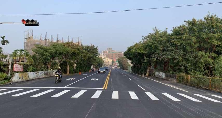 過年前道路燙平再完成一處 霧峰區福新路改善完工