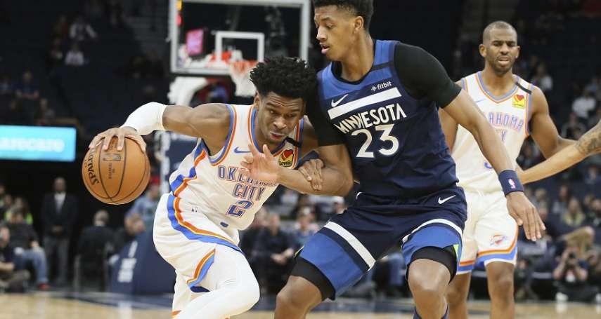 NBA》亞歷山大繳雙20大三元退灰狼 史上第4人比肩歐尼爾、巴克利