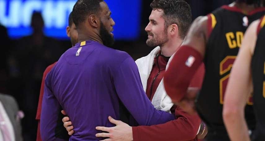 NBA》詹姆斯離隊後首次交手 前隊友勒夫認為湖人有機會奪冠