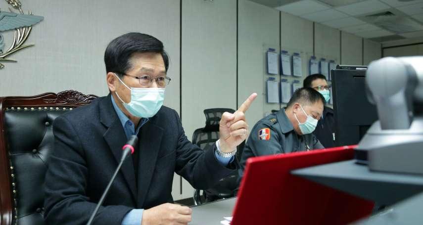 武漢肺炎防疫國軍動起來 嚴德發:官兵若接觸赴中親友,居家隔離14天