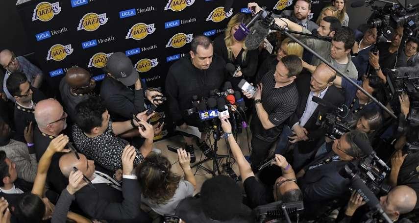 NBA》季中交易大限在即! 湖人教頭佛蓋爾:我很滿意名單上的所有球員