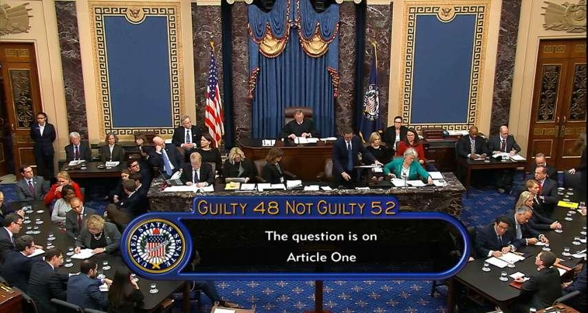 川普無罪!共和黨鋪平總統連任坦途:美參議院進行彈劾表決,兩項條款均未獲通過