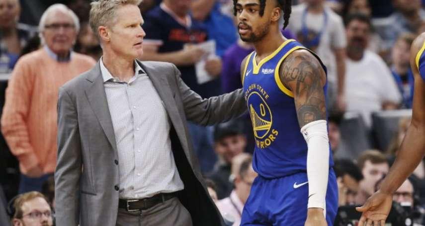 NBA》勇士送走羅素教練講出真心話 「一開始就對他是否合適有疑慮」