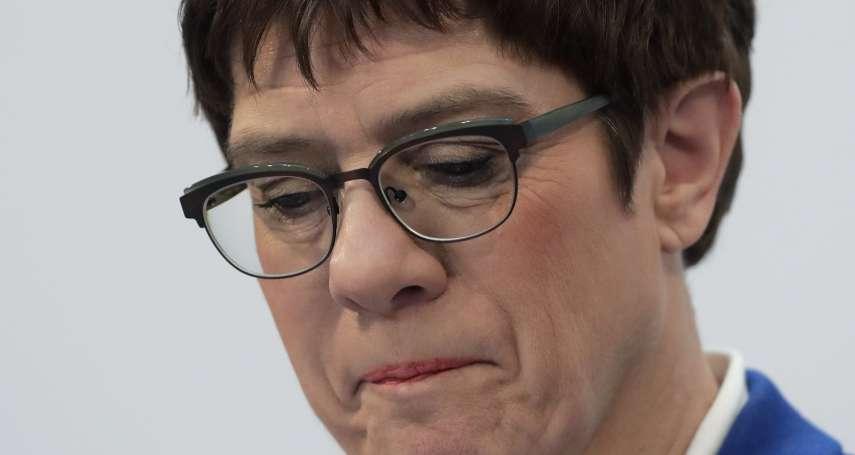 德國政壇震撼彈》「小梅克爾」不幹了!克朗普─卡倫鮑爾棄選總理,誰能做「德國鐵娘子」接班人?