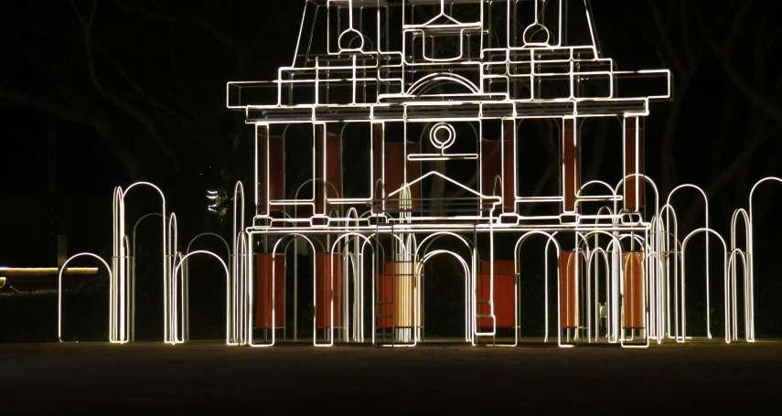 以光為筆創作花燈新象 LED燈條勾勒出古蹟建築線條