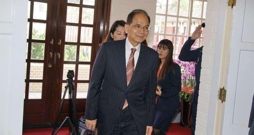 吳斯懷質詢稿批蔡英文挑釁中國 游錫堃:應以專業提出如何讓台灣更強大