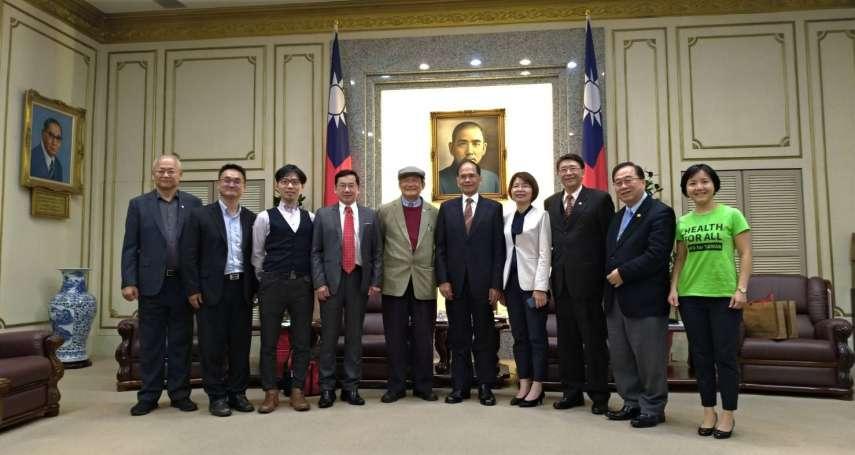 民間團體拜會游錫堃 籲朝野支持「台灣加入WHO共同決議案」