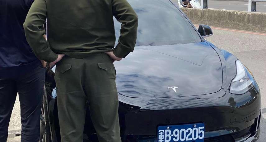 憲兵特斯拉電動車曝光 !黑色帥氣Model 3引注目 車牌揭露車輛用途
