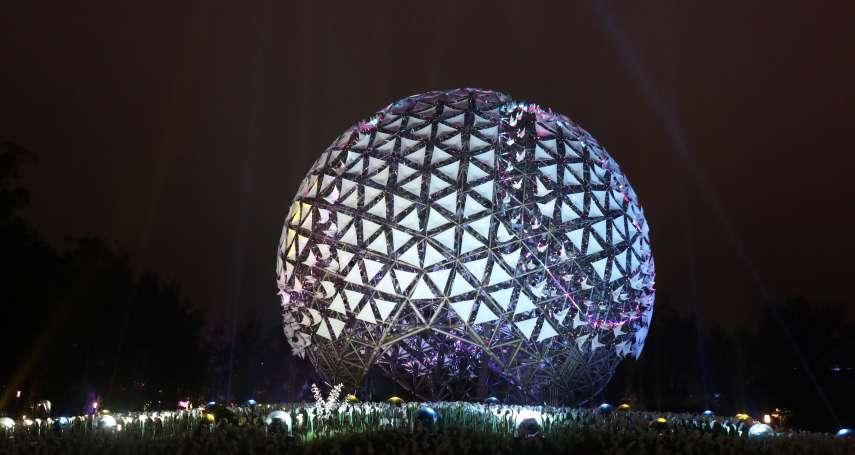 台灣燈會「永晝心」光影交織 展現台中工業科技之美
