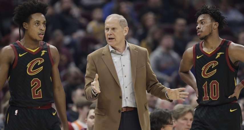 NBA》騎士成績聯盟倒數 總教練健康因素請辭
