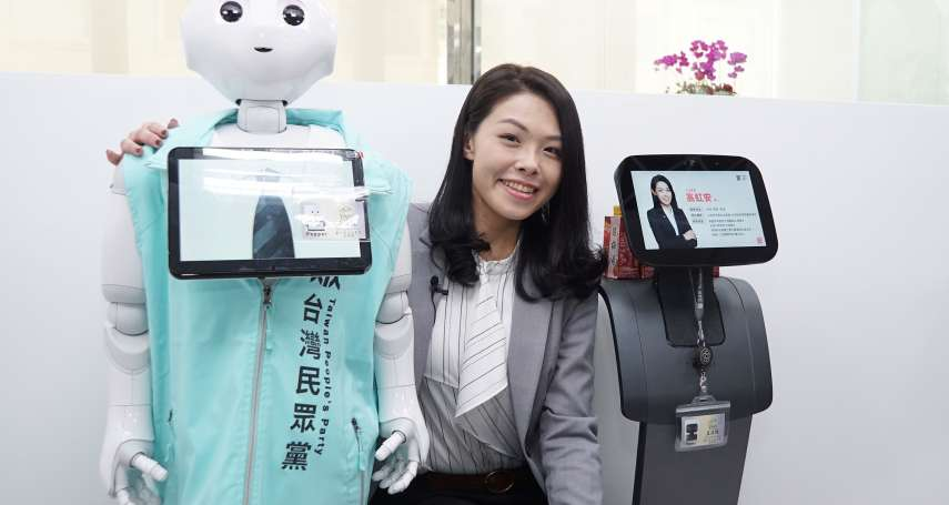獨家》曾「辨識」蔣萬安25歲 高虹安辦公室機器人助理「發燒」進廠維修