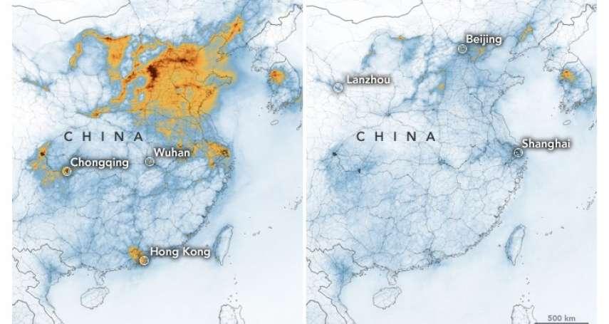 武漢肺炎意外還中國一個朗朗青天!NASA研究員:首次看到因特定事件造成這種現象