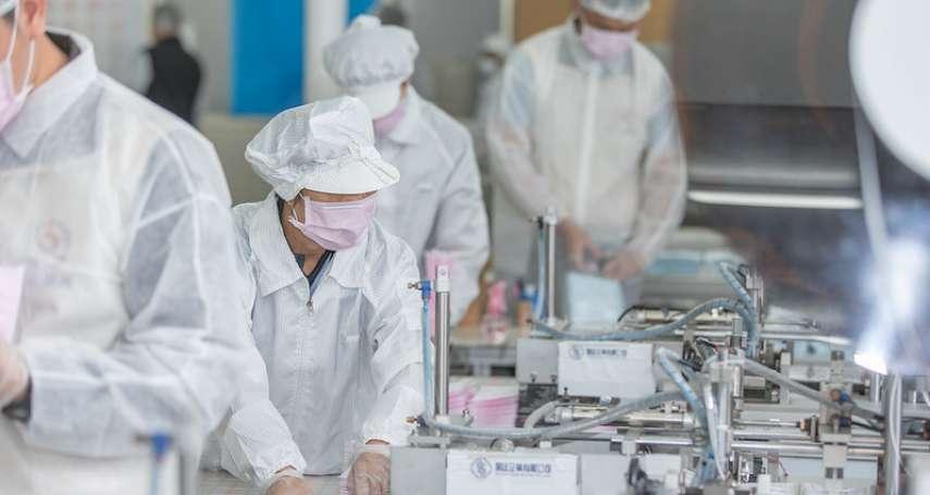 連假後口罩日產能挑戰1500萬片 過濾病毒「熔噴布」先供國內