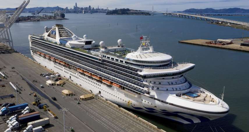 終於靠岸!美國至尊公主號停泊加州奧克蘭港 首批下船美籍乘客接受檢疫隔離