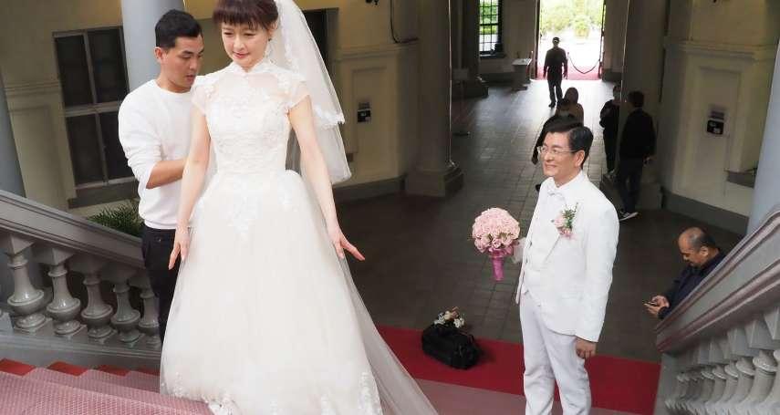 新新聞》當年岳父扮月老,監院副秘書長偕妻重返監院拍三十年珍珠婚照