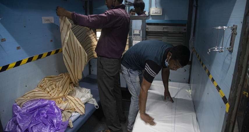 印度火車167年來首度全面停駛!2萬節車廂就地變身「隔離病房」抗疫