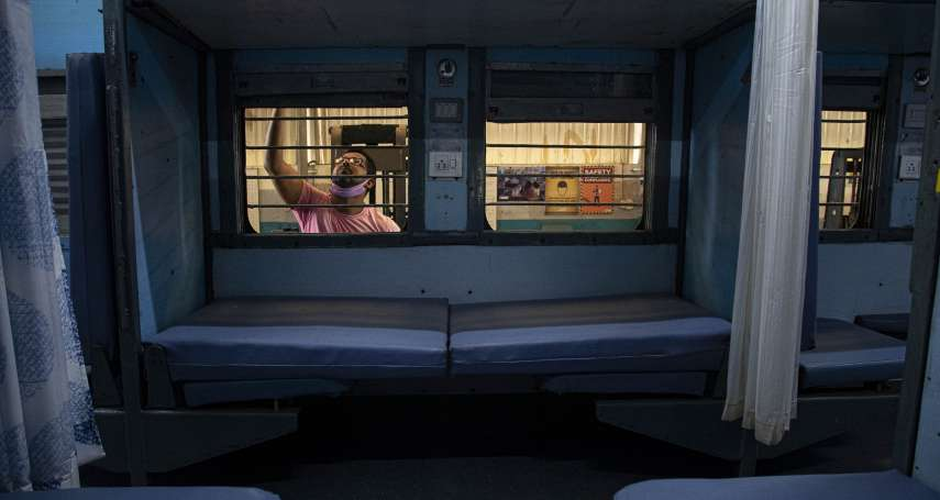 印度全力防堵新冠肺炎 改造火車廂當隔離病房