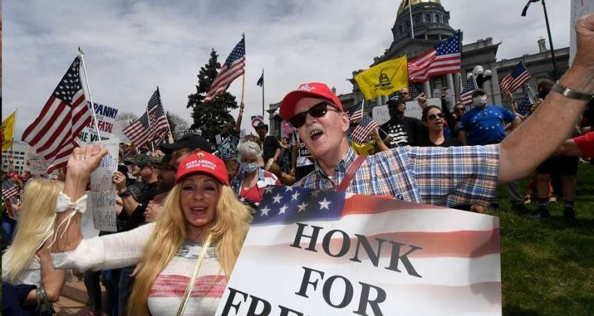 遍及美國十幾個州的反封鎖抗議:示威者與川普支持者高度重疊