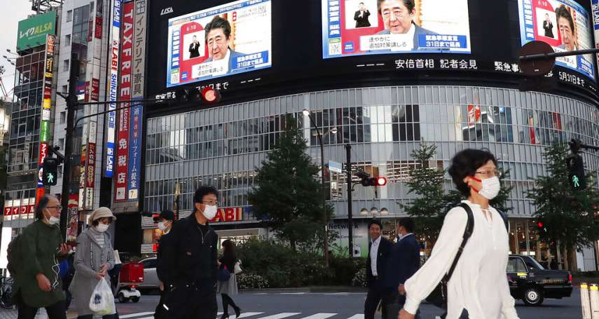 日本「緊急事態」延長至5月底 安倍晉三:這個月是疫情收斂的關鍵,日本要為下個階段做好準備