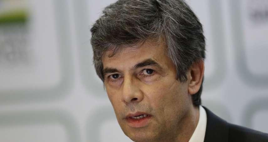 跟總統意見不合,衛生部長用WhatsApp請辭!巴西一個月內兩名部長陣亡,防疫工作更艱難