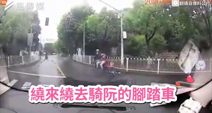 當單車遇上命定機車王子!霸氣追愛直接載走,行車紀錄器拍下爆笑浪漫瞬間【影音】